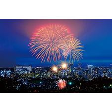 仙台市街を彩る花火(仙台七夕花火祭)