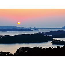 日本三景 松島の日の出